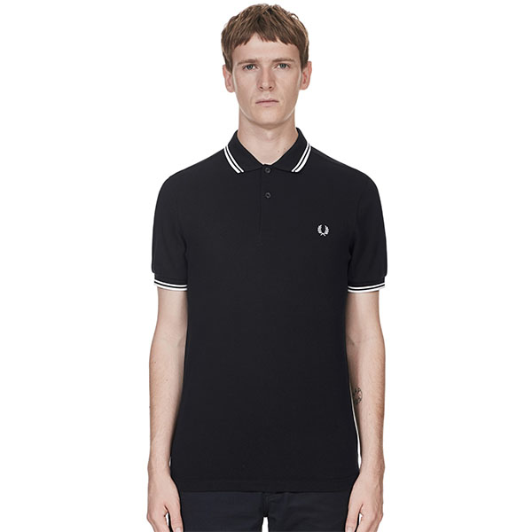 Fred Perry Polo Shirt- Black / Porcelain