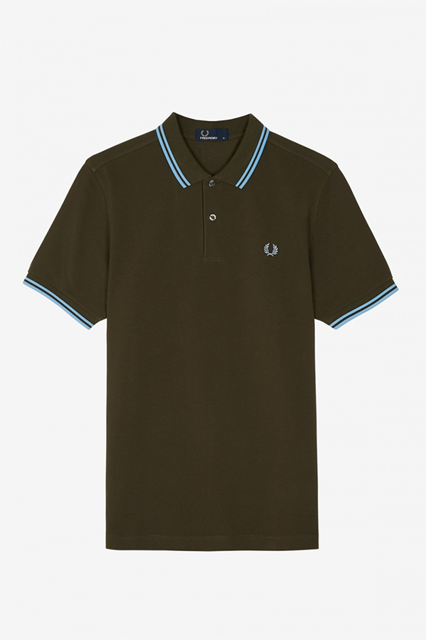 c52ceea16 Fred Perry Polo Shirt- Forest Night / Sky Blue. »
