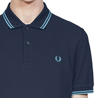 Fred Perry Polo Shirt- Dark Airforce / Ice Blue