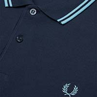 Fred Perry Polo Shirt- Dark Airforce / Ice Blue (Sale price!)