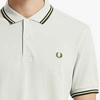 Fred Perry Polo Shirt- Cement