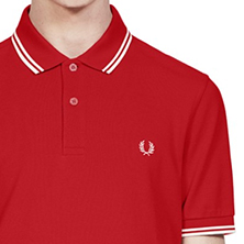 Fred Perry Polo Shirt- England Red