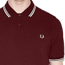 Fred Perry Polo Shirt- Port / Ecru (Sale price!)