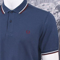 Fred Perry Polo Shirt- Service Blue (Sale price!)