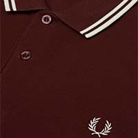 Fred Perry Polo Shirt- Stadium Red / Ecru