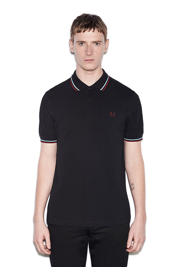 Fred Perry Polo Shirt- Navy / Glacier / Port