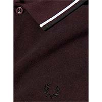 Fred Perry Polo Shirt- Mahogany Black Oxford - SALE sz XL only