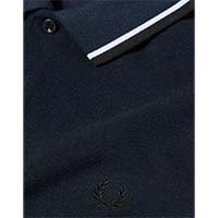 Fred Perry Polo Shirt- Service Blue Black Oxford (Sale price!)