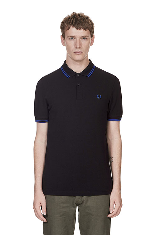 Fred Perry Polo Shirt- Black / Regal