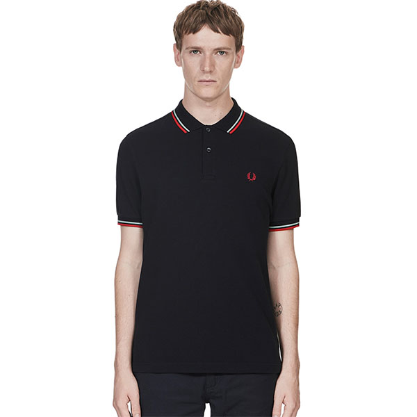 28e39413 Fred Perry Polo Shirt- Navy / Mint / Terra
