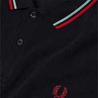 Fred Perry Polo Shirt- Navy / Mint / Terra - SALE sz S only