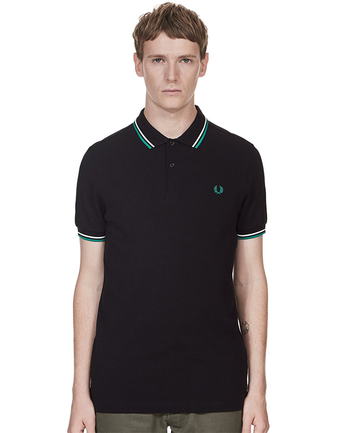 Fred Perry Polo Shirt- Black / SNW / Fanfare