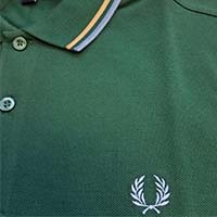 Fred Perry Polo Shirt- Ivy / Gold / Lake (Sale price!)