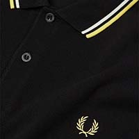Fred Perry Polo Shirt- Black / White / Soft Yellow (Sale price!)