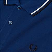 Fred Perry Polo Shirt- Medieval Blue / Snow White / Navy (Sale price!)