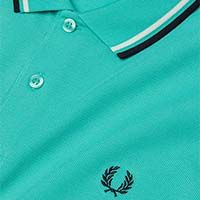 Fred Perry Polo Shirt- Peppermint / Snow White / Navy (Sale price!)