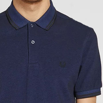 Fred Perry Polo Shirt- Medieval / Black Oxford