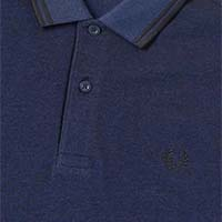 Fred Perry Polo Shirt- Medieval / Black Oxford (Sale price!)