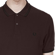 Fred Perry Polo Shirt- Liquorice/Black