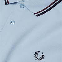 Fred Perry Polo Shirt- Light Smoke / Bramble / Navy (Sale price!)