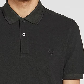 Fred Perry Polo Shirt- Hunter Green / Black Oxford
