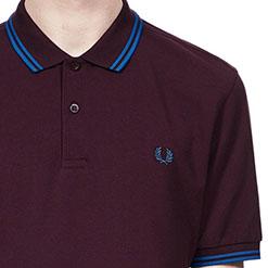 Fred Perry Polo Shirt- Bramble/Prince Blue