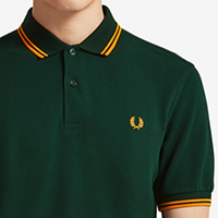 Fred Perry Polo Shirt- Evergreen / Solar