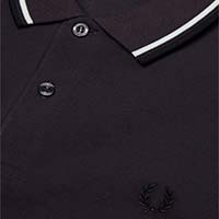 Fred Perry Polo Shirt- Black Grape/Snow White/Black (Sale price!)