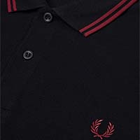 Fred Perry Polo Shirt- Black / Crushed Berry