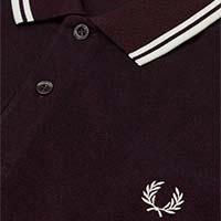 Fred Perry Polo Shirt- Shiraz / Black Oxford