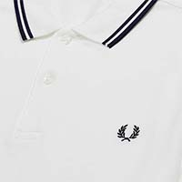 Fred Perry Polo Shirt- White / French Navy (Sale price!)