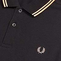 Fred Perry Polo Shirt- Black / Apricot