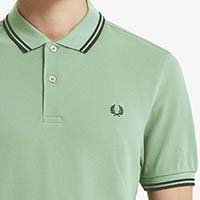 Fred Perry Polo Shirt- Hedgerow / Black