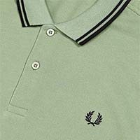 Fred Perry Polo Shirt- Hedgerow / Black - SALE sz M only