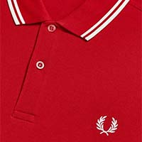 Fred Perry Polo Shirt- Siren Red