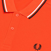 Fred Perry Polo Shirt- International Orange / White / Black (Sale price!)