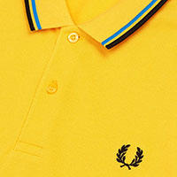 Fred Perry Polo Shirt- Modern Yellow / Modern Blue / Black (Sale price!)