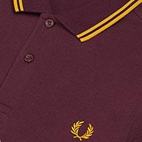 Fred Perry Polo Shirt- Mahogany / Gold