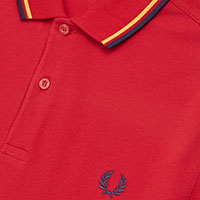 Fred Perry Polo Shirt- Siren / Gold / Carbon Blue (Sale price!)