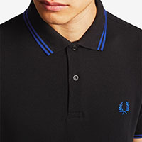 Fred Perry Polo Shirt- Black / Cobalt