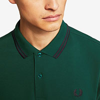 Fred Perry Polo Shirt- Ivy / Navy (Sale price!)