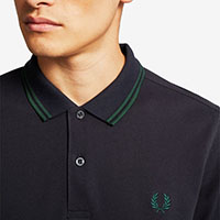 Fred Perry Polo Shirt- Navy / Ivy - SALE sz M only