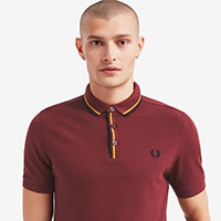 Fred Perry Tipped Placket Polo Shirt- Port - SALE sz L only
