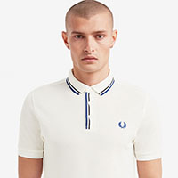Fred Perry Tipped Placket Polo Shirt- White (Sale price!)