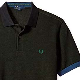 Fred Perry Color Block Pique Polo Shirt- Hunter Green - SALE