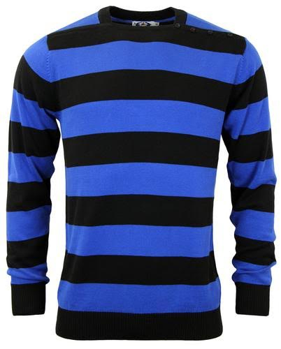 Jones Sweater by Madcap England - in black & blue