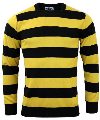 Jones Sweater by Madcap England - in mustard & black