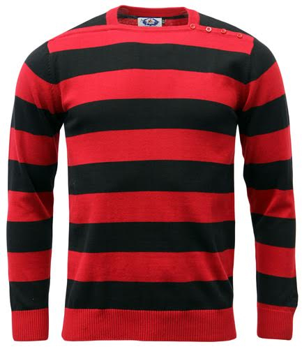 Jones Sweater by Madcap England - in red & black