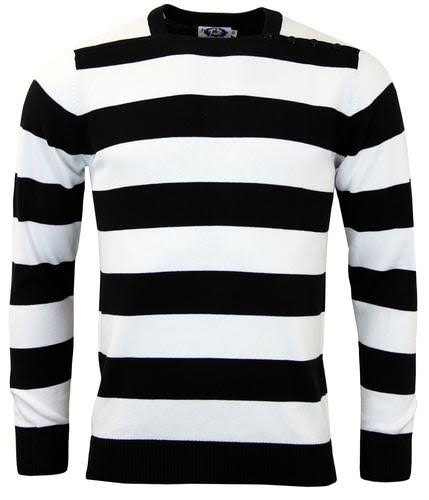 Jones Sweater by Madcap England - in black & white
