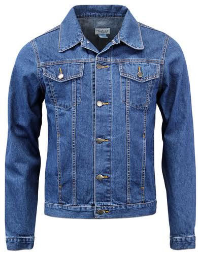 Stonewash Denim Mod Jean Jacket by Madcap England - blue - SALE sz XL & 2X only